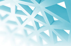 Abstract 3d background with blue triangle wire Royalty Free Stock Photography