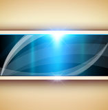 Abstract 3D background. Blue vector illustration Stock Photography