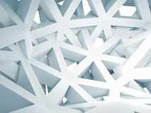 Abstract 3d background with chaotic white construction Stock Images