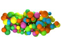 Abstract 3D background with colored bubbles Royalty Free Stock Image