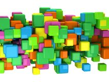 Abstract 3D background with colored cubes Stock Images