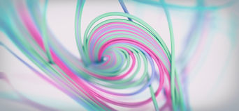 Abstract 3d Background. Colored Spiral Lines 3d Abstract Background Stock Photos