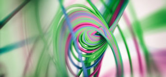Abstract 3d Background. Colored Spiral Lines 3d Abstract Background Stock Photo
