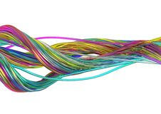 Abstract 3d Background. Abstract Background of Colored Wavy Lines in 3d vector illustration