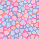 Abstract 3D background with colorful hearts Stock Image
