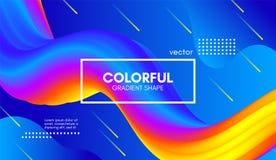 Abstract 3d Background. Colorful Wave Fluid Shape. Abstract Wave 3d Background with Colorful Liquid. Vector Illustration. Trendy 3d Fluid Design for Business Vector Illustration