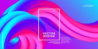 Abstract 3d Background. Colorful Wave Fluid Shape. Colorful Fluid Shape. Vector Illustration. 3d Abstract Background. Flow Vibrant Gradient. Modern Color Wave Vector Illustration