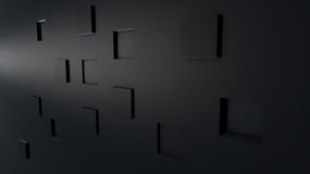 Abstract 3D background cubes. Abstract gray background with 3d cubes Royalty Free Stock Images