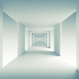 Abstract 3d background, empty corridor perspective Royalty Free Stock Photography