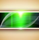 Abstract 3D background. Green vector illustration Royalty Free Stock Photos