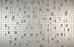 Abstract 3D background of grey cubes Stock Images