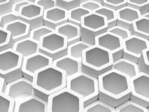 Abstract 3d background. 3d hexagons futuristic abstract pattern Royalty Free Stock Photo