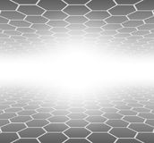 Abstract 3D Background. Hexagons grey pattern, vector illustration Royalty Free Stock Photo