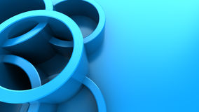 Abstract 3d background. Abstract 3d illustration of blue background with circles Royalty Free Stock Photo