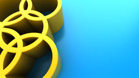 Abstract 3d background. Abstract 3d illustration of blue background with yellow circles Stock Images