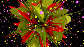Abstract 3d background. Illustration concept Royalty Free Stock Image