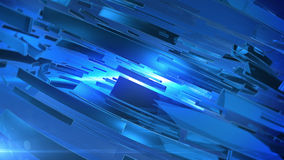 Abstract 3D background. With lens flare. Blue colors Stock Image
