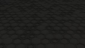 Abstract 3d background made of black hexagons Stock Photo