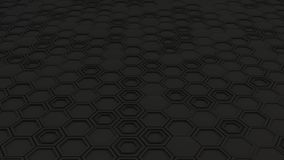 Abstract 3d background made of black hexagons Royalty Free Stock Photo