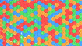 Abstract 3d background made of colorful hexagons. Wall of hexagons. Honeycomb pattern. 3D render illustration Stock Photos