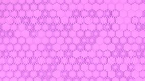 Abstract 3d background made of purple hexagons. Wall of hexagons. Honeycomb pattern. 3D render illustration Royalty Free Stock Photo