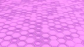Abstract 3d background made of purple hexagons. Wall of hexagons. Honeycomb pattern. 3D render illustration Royalty Free Stock Photos
