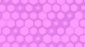 Abstract 3d background made of purple hexagons. Wall of hexagons. Honeycomb pattern. 3D render illustration Stock Photography