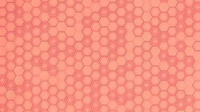 Abstract 3d background made of red hexagons. Wall of hexagons. Honeycomb pattern. 3D render illustration Stock Images