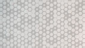 Abstract 3d background made of white hexagons. Wall of hexagons. Honeycomb pattern. 3D render illustration Stock Photos