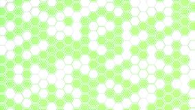 Abstract 3d background made of white hexagons on green glowing background. Wall of hexagons. Honeycomb pattern. 3D render illustration Royalty Free Stock Image