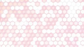 Abstract 3d background made of white hexagons on red glowing bac. Kground. Wall of hexagons. Honeycomb pattern. 3D render illustration Stock Photo