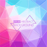 Abstract 3D background. The main elements of lines and triangles Royalty Free Stock Photography