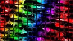 Rainbow Glass Squares Background Royalty Free Stock Photo