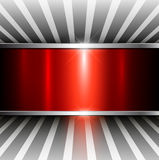 Abstract 3D background. Red metallic, vector illustration Royalty Free Stock Image