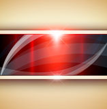 Abstract 3D background. Red metallic, vector illustration Royalty Free Stock Photography