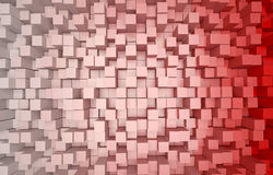 Abstract 3D background of red and white cubes Stock Photo