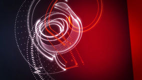 Abstract 3D Background Rotating Point Cloud White And Red Arrows Stock Image