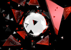 Abstract 3D background. Superior quality 3D rendered background Royalty Free Stock Images
