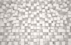 Abstract 3D background of white cubes Royalty Free Stock Photography