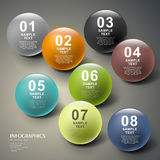 Abstract 3d ball infographics. Modern vector abstract 3d ball infographic elements Stock Photo
