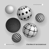 Abstract 3d balls floating in the air. Vector realistic background Royalty Free Stock Photo