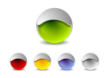 Abstract 3d balls logo design. Vector background Royalty Free Stock Photos