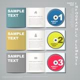 Abstract 3d banner infographics. Modern vector abstract 3d banner infographic elements vector illustration