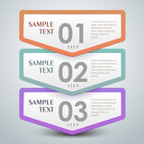 Abstract 3d banner infographics Stock Photography