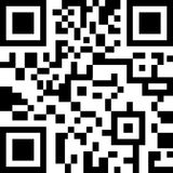 Abstract 2D barcode. Black and white illustration. Stock Photography