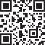 Abstract 2D barcode. Black and white illustration. Royalty Free Stock Photo
