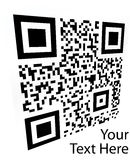 Abstract 2D barcode. Black and white illustration. Royalty Free Stock Photos