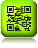 Abstract 2D barcode. Black and white illustration. Royalty Free Stock Images