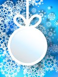 Abstract 3D Bauble Christmas background. + EPS10 Royalty Free Stock Photography