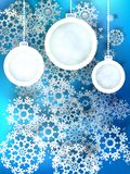 Abstract 3D Baubles Christmas background. + EPS10. Vector file Stock Images